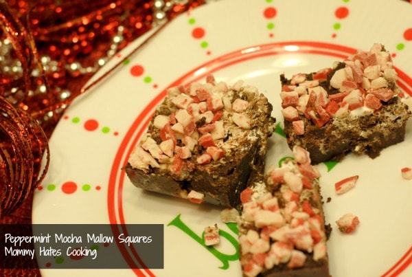 peppermint mocha mallow squares