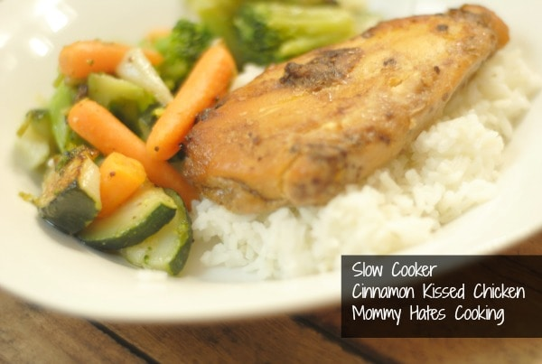 Slow Cooker Cinnamon Kissed Chicken & Rice