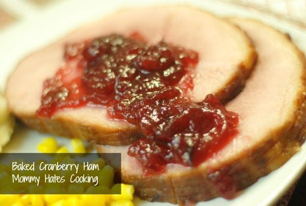 baked cranberry ham