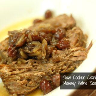 slow cooker cranberry roast