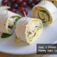 guac and chicken pinwheels
