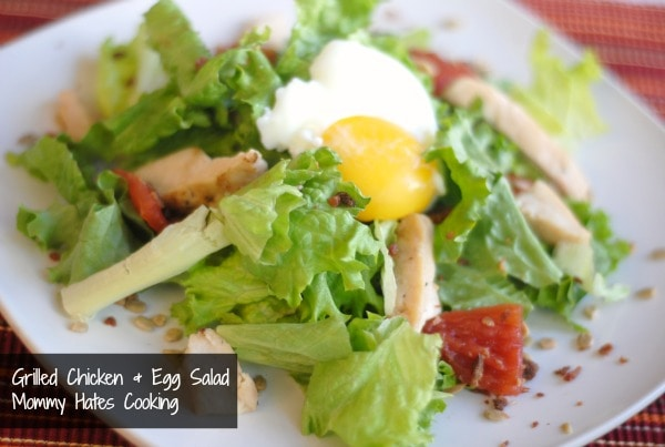 Poached Egg Chicken Salad