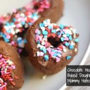 baked heart shaped chocolate dougnuts