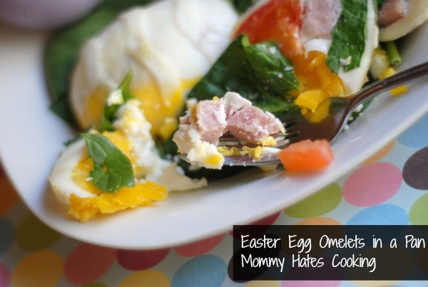 Easter Egg Omelets in a Pan