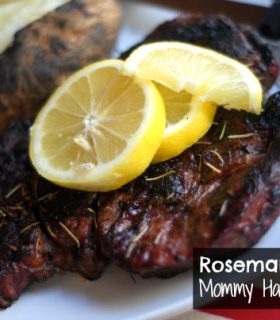 Grilled Rosemary Lemon Steaks