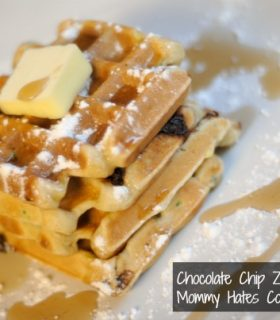 Chocolate Chip Zucchini Waffles