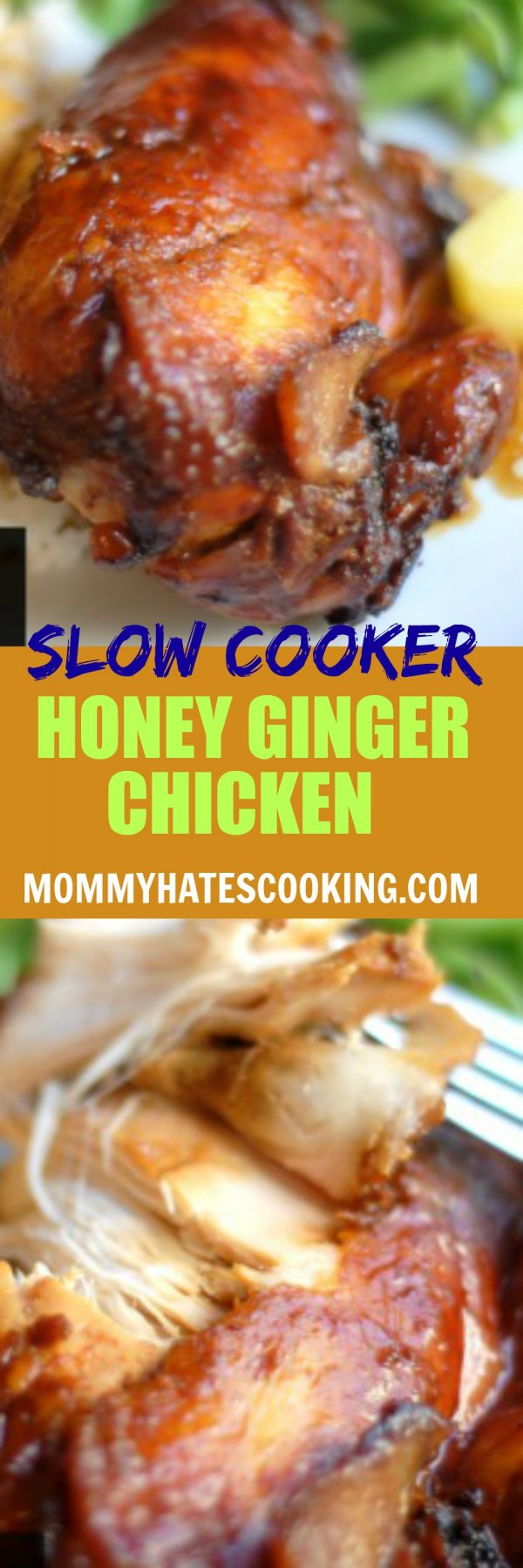 Slow Cooker Honey Ginger Chicken #GlutenFree