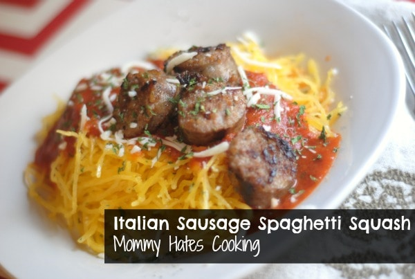 Italian Sausage Spaghetti Squash - Mommy Hates Cooking