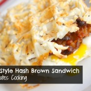 Waffle Style Hash Brown Sandwich