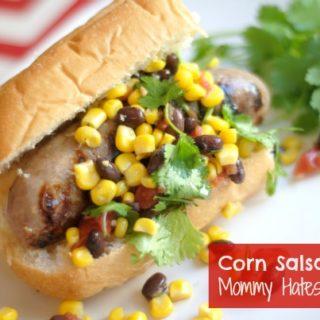Grilled Corn Salsa Brats