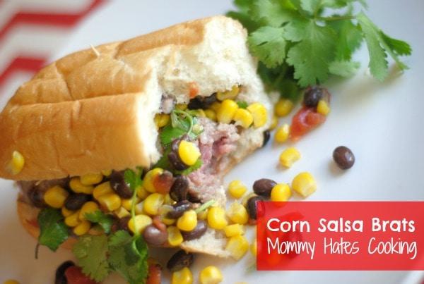 Corn Salsa Brats