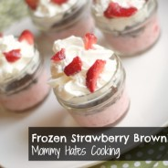 Frozen Strawberry Brownie Cups