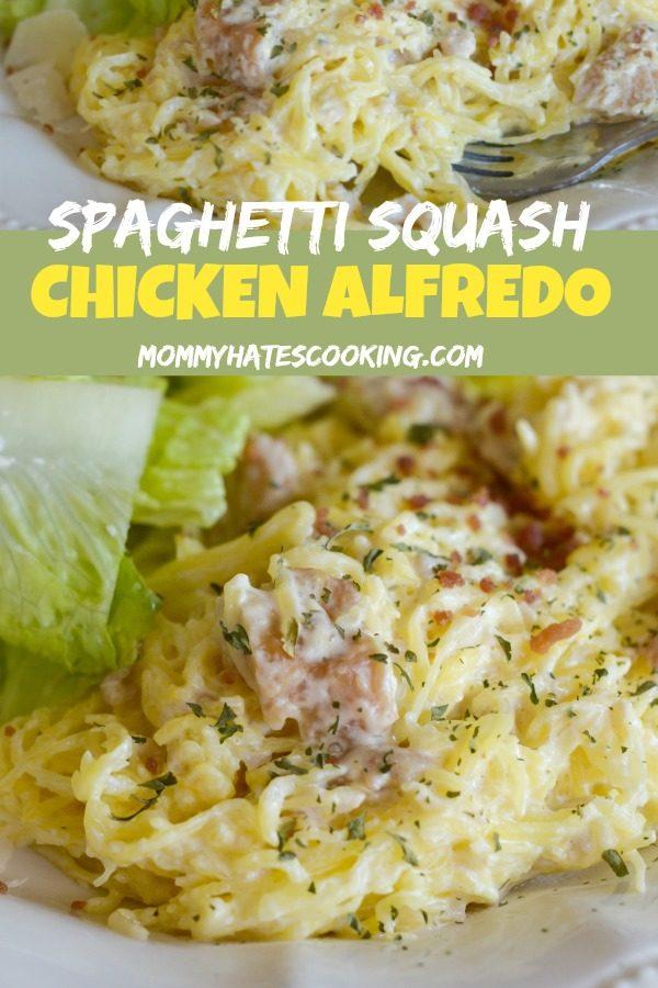 Gluten-Free Spaghetti Squash Chicken Alfredo