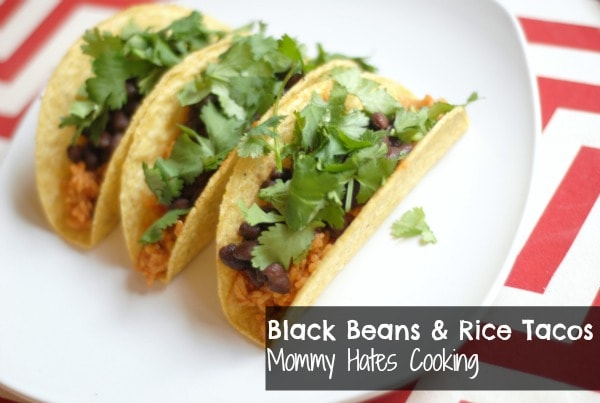 Black Bean & Rice Tacos