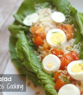 Italian Style Salad with Great Day Farms Eggs
