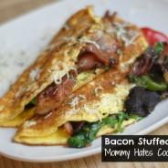 Bacon stuffed omelet