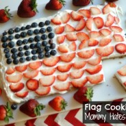 American Flag Cookie Cake