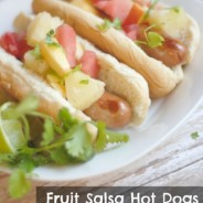 Fruit Salsa Hot Dogs