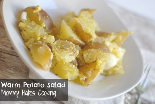 Mom's Warm Potato Salad Recipe — Dishmaps