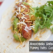 Avocado & Salsa Hot Dog by Mommy Hates Cooking