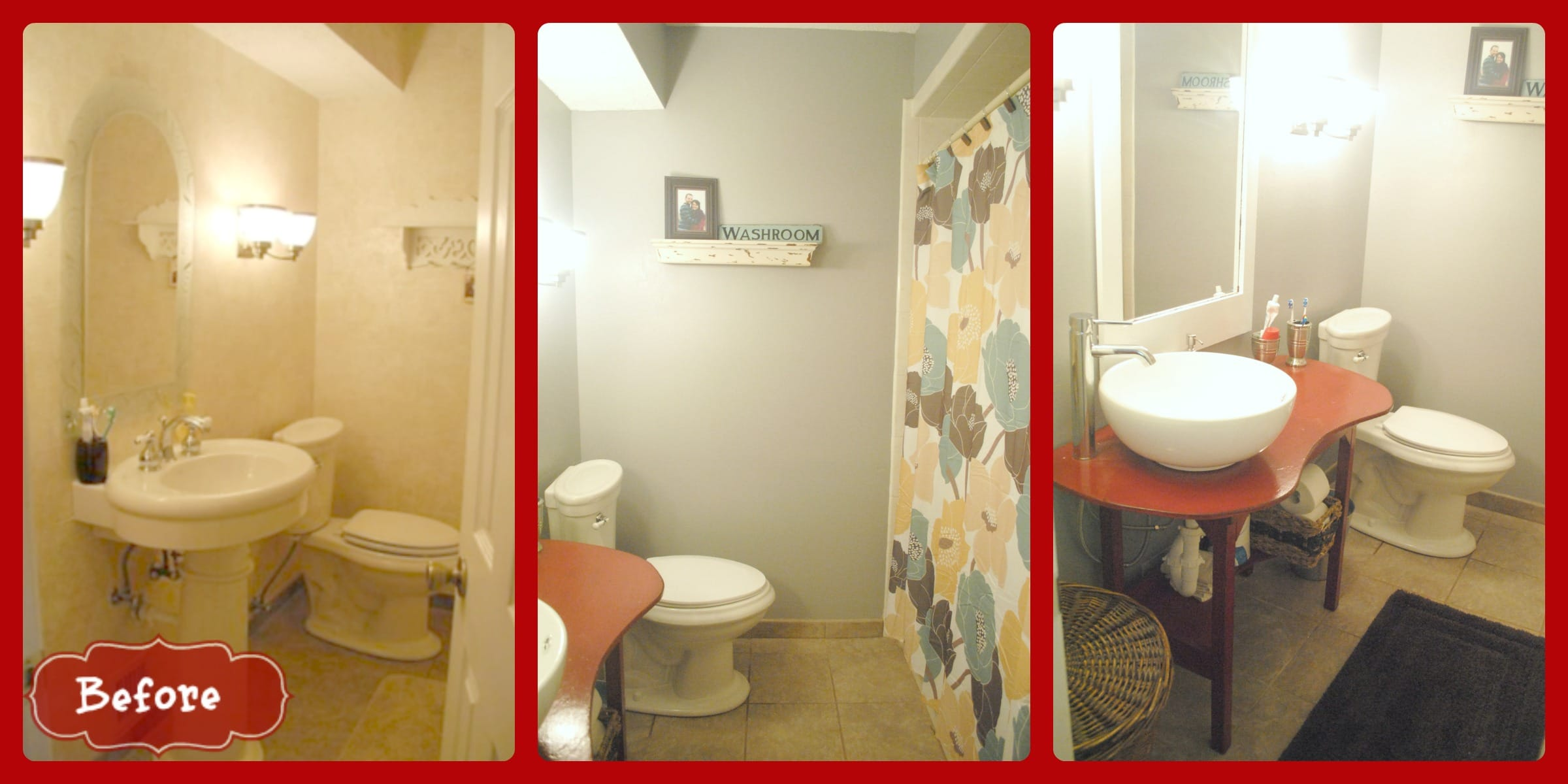 Our bathroom update cottonelle care routine mommy for Bathroom updates