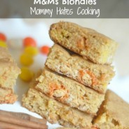 White chocolate Candy Corn M&M's Blondies