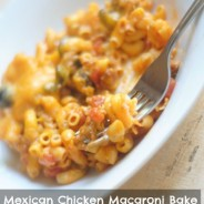 #ad Mexican Chicken Macaroni Bake #CreateAMeal #cbias from @MomHatesCooking