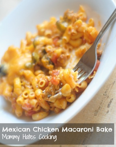 Mexican Chicken Macaroni Bake