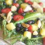 Grilled Romaine Fruit Salad