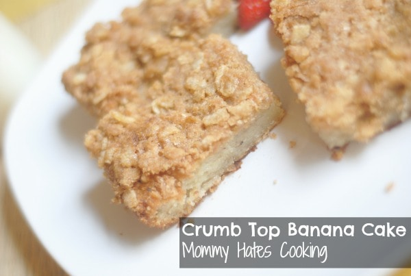 Crumb Top Banana Cake