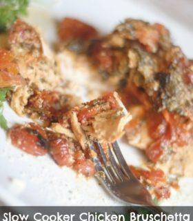 Slow Cooker Chicken Bruschetta