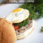 Egg Topped Turkey Burger