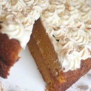Pumpkin Pie Cake {Gluten Free Optional}