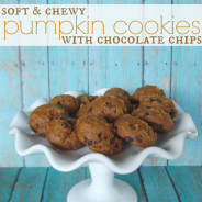 Soft & Chewy Pumpkin Cookies