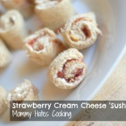 Strawberry-Cream Cheese Sushi Rolls