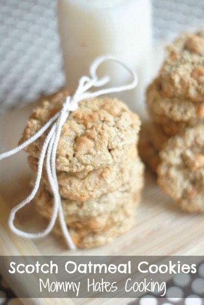 Scotch Oatmeal Cookies {Gluten Free Optional}