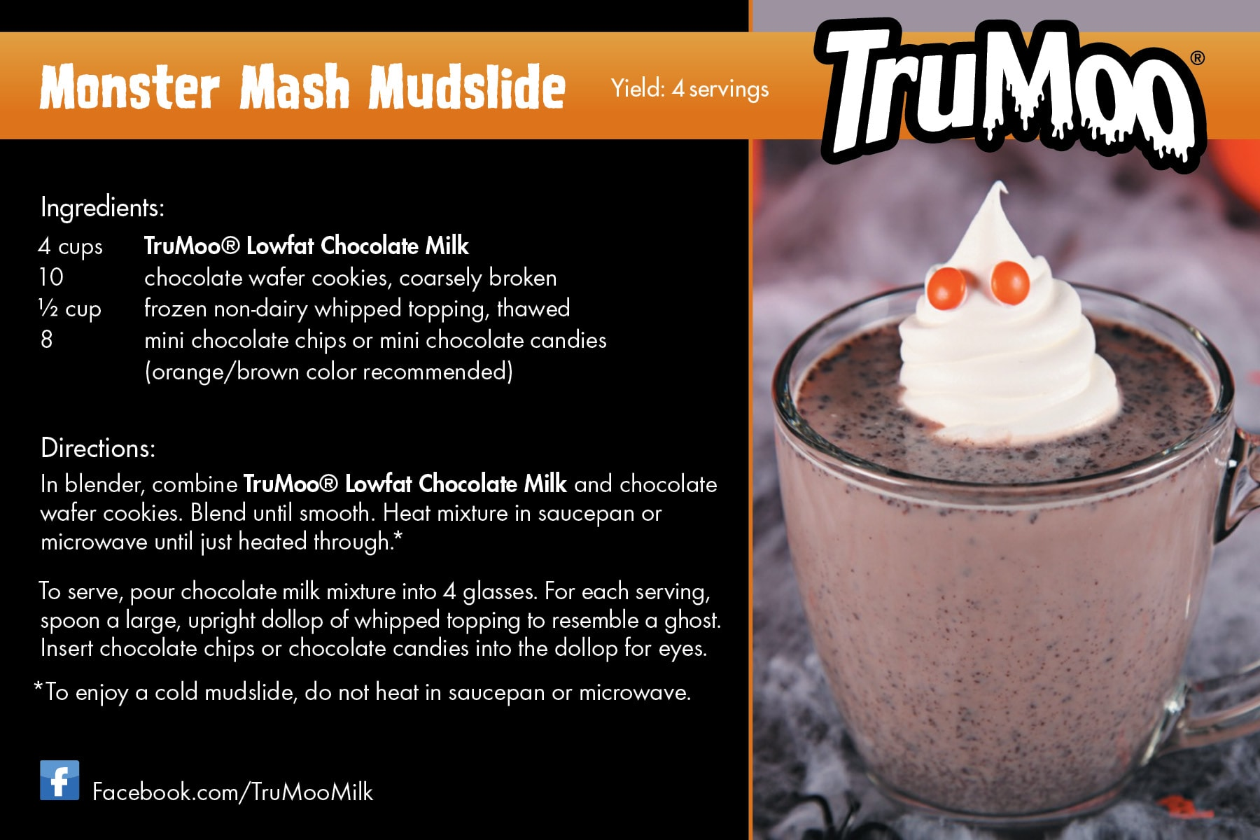 Monster Mash Mudslide Recipe Card