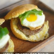 Maple Sausage Egg Biscuit