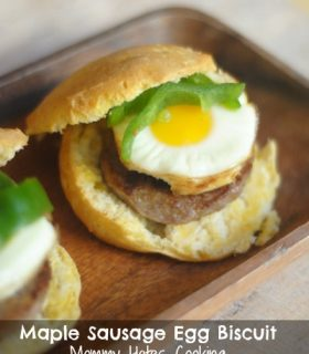 Maple Sausage Egg Biscuits