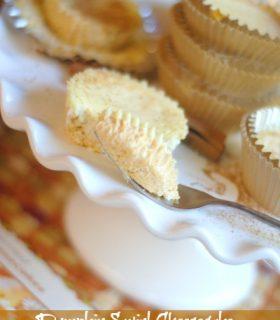 Pumpkin Swirl Cheesecake with Coffee Mate