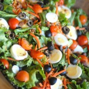 Super Salad with Kraft Dressing