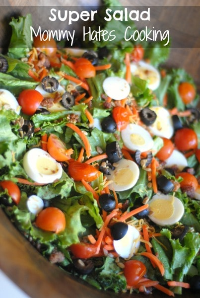 Super Salad with Kraft Dressing