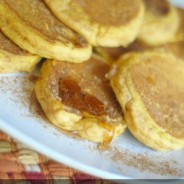 Fluffy Pumpkin Pancakes {Gluten Free Optional}
