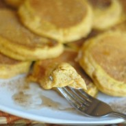 Fluffy Pumpkin Spice Pancakes {Gluten Free Optional}