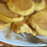 Fluffy Pumpkin Spice Pancakes {Gluten Free Optional}