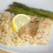 Lemon Rosemary Salmon with #SauteExpress #shop #cbias