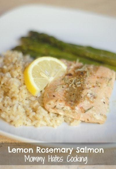 Lemon Rosemary Salmon with #SauteExpress #shop #cbias
