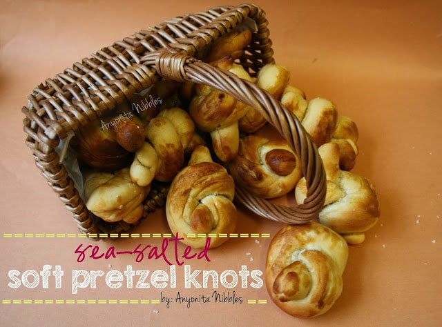 Sea-Salted Soft Pretzel Knots by Anyonita Nibbles