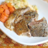 Slow Cooker Rosemary Pork Roast
