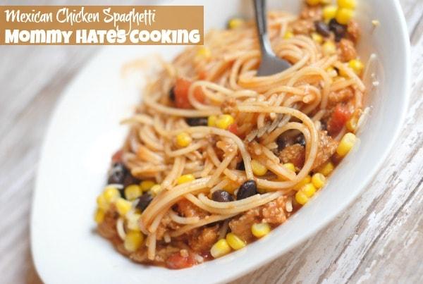 Mexican Chicken Spaghetti